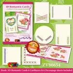 Set knipvellenboek ZV80654 3D-Romantische Lintkaarten