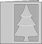 Romak 4-kant kaart Kerstboom 25 donkerblauw