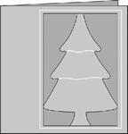 Romak 4-kant kaart Kerstboom 26 aubergine