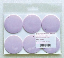 LeCreaDesign Kunststof medaillons lila 5CM / 6 ST