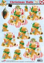 A4 Stansvel Studio Light PTB445 Christmas Balls Popcorn Bear