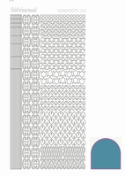 Stickervel Hobbydots Mirror STDM12D Turquoise