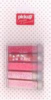 Mix and Match 5 buisjes glitter 200092 roze