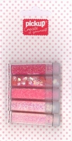 Mix and Match 5 buisjes glitter 200092 roze
