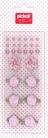 Mix and Match embellishments parels en roosjes 200012 roze