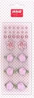 Mix and Match embellishments parels en roosjes 200012 roze