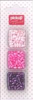 Mix and Match kralen ovaal 200112 roze