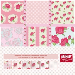 Mix and Match scrapbook papier 200192 roze