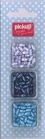 Mix and Match kralen ovaal 200110 blauw