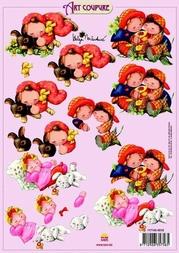 Art Coupure 3D stappenvel 18 kleine kinderen