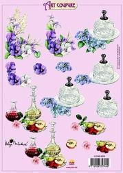 Art Coupure 3D stappenvel 15 bloemen kristal