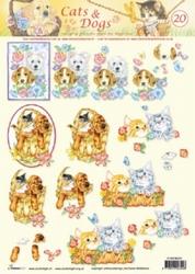 A4 Knipvel Studio Light Cats & dogs 20