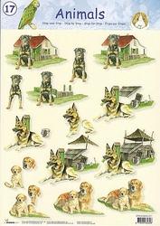 A4 Knipvel Studio Light Animals S17 Honden