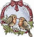 Stempel Yvonne Creations 10005 Vogels in krans
