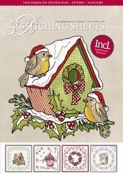 Sjaak van Went 3D Stitching Sheets 27 Kerst vogelhuisje