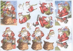 Mireille A4 kerstknipvel X105 Kerstman op het dak