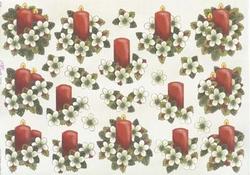 Mireille A4 kerstknipvel X102 kaarsen