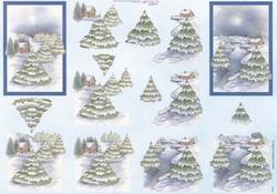 Mireille A4 kerstknipvel X157 Kerstlandschap