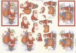 Mireille A4 kerstknipvel X159 Kerstman met pakjes