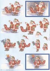 Mireille A4 kerstknipvel X160 Kerstman met slee