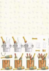 Knipvel A4 Mireille E134 Drank champagne & glazen