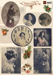 A4 Knipvel MD VK9526 Vintage Christmas 2