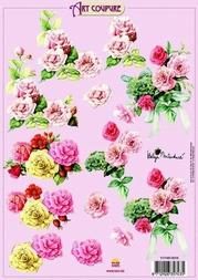 Art Coupure 3D stappenvel 14 rozen