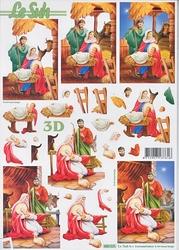 Le Suh 3D Stansvel 680025 Geboorte van Jezus