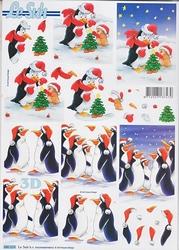 Le Suh 3D Stansvel 680024 Pinguins