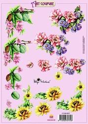 Art Coupure 3D stappenvel 17 bloemen diverse