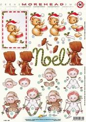 Morehead A4 Kerst Stansvel 380 Beertje met trom/Noël