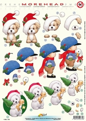 Morehead A4 Kerst Stansvel 379 Hondje/beertje/jongentje
