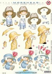 Morehead A4 Stansvel 369 Jongen/meisje blauw met bloem