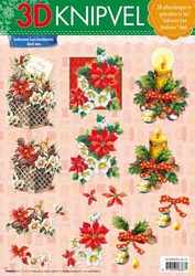 A4 Kerstknipvel Studio Light SL 24 Kaars/kerstmand/bloem