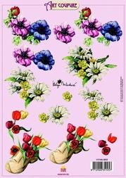Art Coupure 3D stappenvel 03 klomp bloemen
