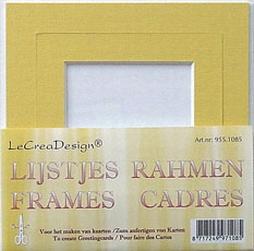 LeCreaDesign passe-partout lijstjes geel 4x