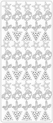 Kerststicker TH 1868 Klok-kaars-boom-ster