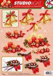 A4 Stansvel Studio Light Kerst 310 Klokken/vogeltjes/kaarsen