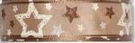 Halbach Kerst lint met sterren 783 beige