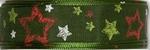 Halbach Kerst lint met sterren 548 groen