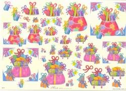 Knipvel A4 Mireille E673 Sinterklaas pakjes