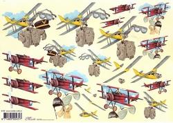 Knipvel A4 Mireille E726 Heren vliegtuigen