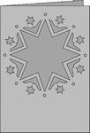 Romak Passe-Partout 352 A6 Romance Kerst sterren 22 ivoor