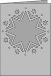 Romak Passe-Partout 352 A6 Romance Kerst sterren 21 wit