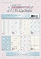 LeCreaDesign papier 518688 assorti Voorjaar Stylish blue