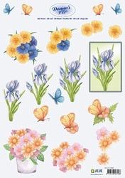 3D Knipvel Donna Jeje 3.4091 Bloemen 1