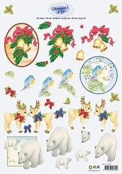 3D Kerstknipvel Donna Jeje 3.4094 Kerst/dieren