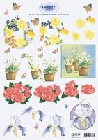 3D Knipvel Donna Jeje 3.4092 Bloemen & vlinders