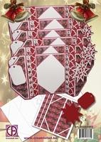 Creatief Art 2625-0462 Pakket onderkaarten Kerst drieluik