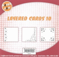 Hobbydots Layered Cards 10 Hoek/rand/hoekjes